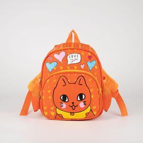 Рюкзак детский, отдел на молнии, наружный карман, 2 боковых кармана, цвет оранжевый
