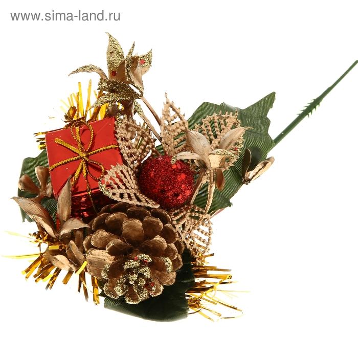 """Декор новогодний """"Лист резной подарок"""""""