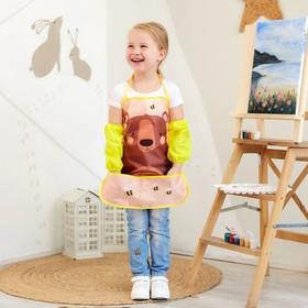 Набор детский для творчества Collorista «Мишка» фартук 49 х 39 см и нарукавники 25 х 8 см