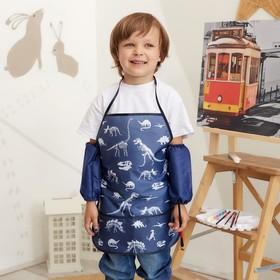 Набор детский для творчества Collorista Dino time фартук 49 х 39 см и нарукавники 25 х 8 см