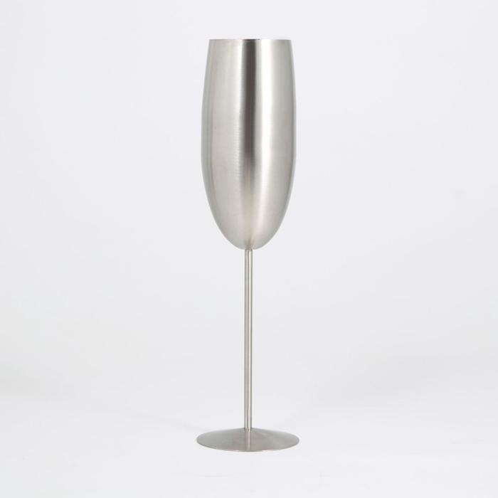 Бокал флюте, 25×6,5 см, для коктейлей, матовый - фото 1418600