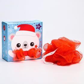 Мочалка детская для купания «Белый мишка»