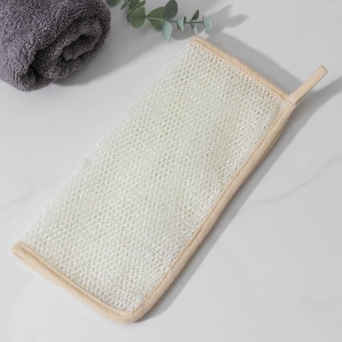 Мочалка-скрабер Доляна, 25×25 см, цвет МИКС
