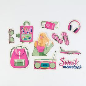 Наклейки на чемодан Sweet memories, 10 шт