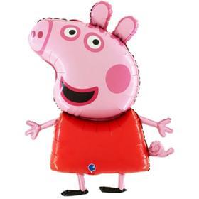 """Шар фольгированный 41"""" «Свинка Пеппа», фигура"""
