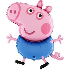 """Шар фольгированный 37"""" «Свинка Пеппа. Джордж», фигура"""