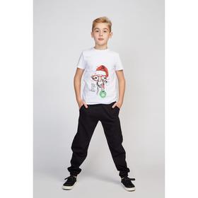 Футболка детская, цвет белый, рост 98-104 см