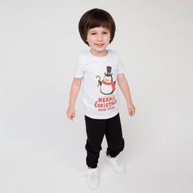 Брюки детские, цвет чёрный, рост 104 см (56)