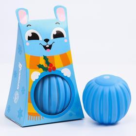 Развивающий массажный рельефный мячик «Зайка», 1 шт.
