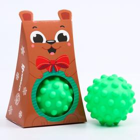 Развивающий массажный рельефный мячик «Мишка», 1 шт.
