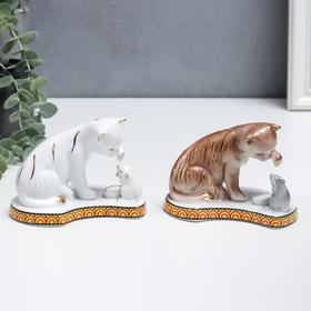 """Сувенир керамика """"Кошки-мышки"""" МИКС  9х12х8 см"""