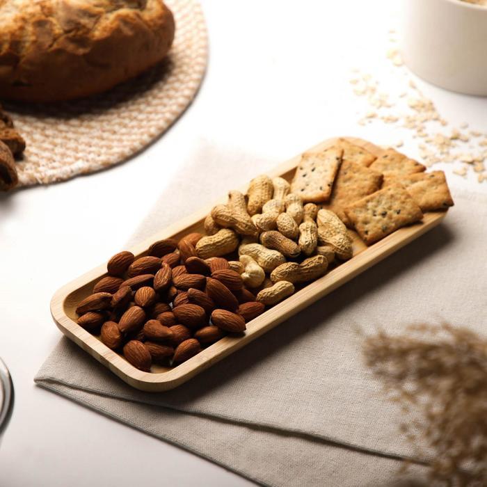 Блюдо для подачи Доляна «Бамбук», прямоугольное, 26×10 см, бамбук