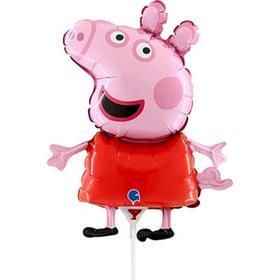 """Шар фольгированный 14"""" «Свинка Пеппа», мини-фигура"""