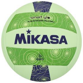 Мяч волейбольный пляжный MIKASA VSG, синтетическая кожа (ТПУ), машинная сшивка, бутиловая камера, размер 5, цвет зелёный/синий