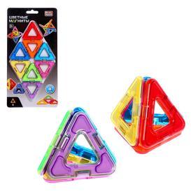 Конструктор магнитный «Цветные магниты», 8 деталей