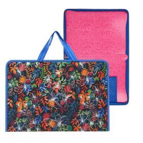 Папка с ручками каркасная текстиль, А4, 40 х 370 х 250 мм, «Вдохновение Лайт», «Осень»