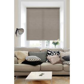 Рулонная штора «Морзе», цвет коричневый, 130х160 см