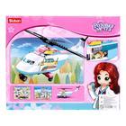 Конструктор Розовая мечта «Вертолет», 163 детали - фото 107085164