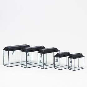 """Комплект прямоугольных аквариумов """"Матрёшка"""" с крышками, атолл, 13, 16, 40, 52 л"""