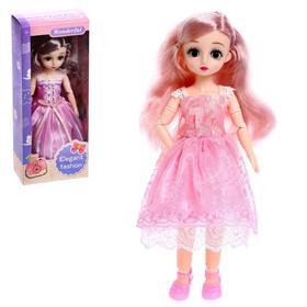 Кукла шарнирная «Алина» в платье, МИКС