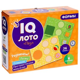 IQ Лото «Формы», 6 карточек, 36 фишек