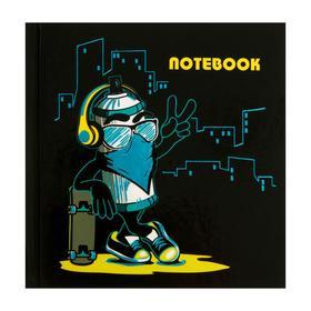 """Записная книжка 105 x 105, 48 листов """"Баллончик"""", твёрдая обложка, глняцевая ламинация, тиснение фольгой"""