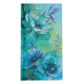 """Записная книжка 110 x 206, 80 листов """"Нежные цветы"""", твёрдая обложка, матовая ламинация, выборочный лак, тиснение фольгой"""