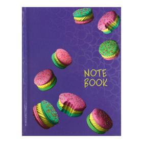 """Записная книжка А6, 48 листов в линейку """"Яркие сладости"""", твёрдая обложка, ламинация голографической плёнкой, блок 65 г/м2"""