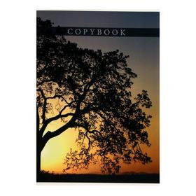 """Тетрадь-перевёртыш А4, 80 листов в клетку """"Дерево на закате"""", обложка мелованный картон, Уф-лак"""