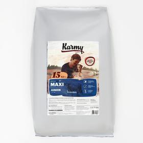 Сухой корм Karmy maxi junior для щенков крупных пород, телятина, 15 кг