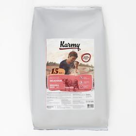 Сухой корм Karmy Делишес maxi для привередливых собак крупных пород, телятина, 15 кг