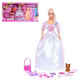 """Кукла-модель """"Елена"""" с набором платьев, аксессуарами  и питомцем, МИКС"""