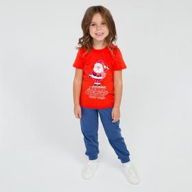 Футболка детская, цвет красный, рост 104-110 см