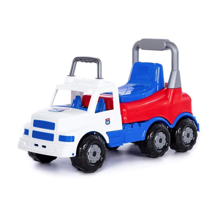 Каталка-автомобиль «Буран» №1, бело-синяя