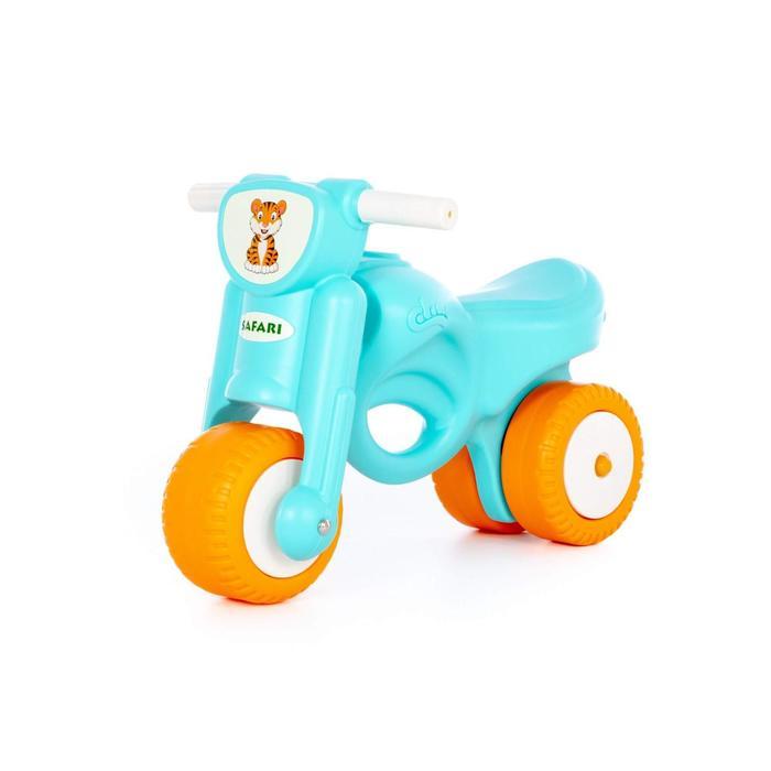 Каталка-мотоцикл «Мини-мото» сафари, голубая
