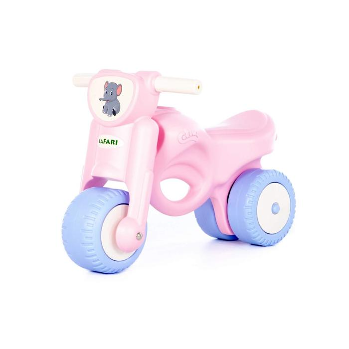 Каталка-мотоцикл «Мини-мото» сафари, розовая