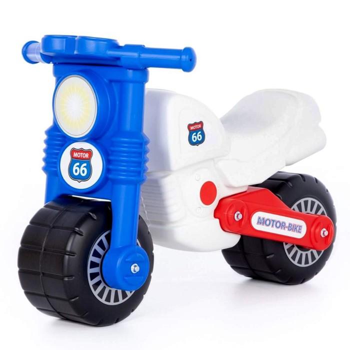 Мотоцикл «Моторбайк», цвет бело-синий