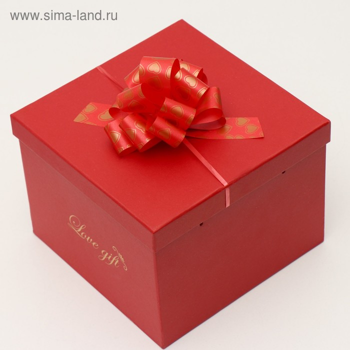 """Бант-шар №3 """"Сердечки"""", цвет красный"""