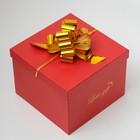 Бант-шар №3 металлик, цвет золото