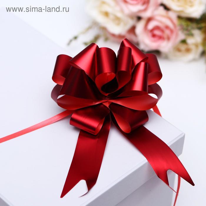 Бант-шар №3 металлик, цвет красный