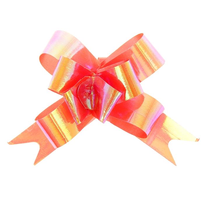 Бант-бабочка №1,2 перламутровый, цвет красный