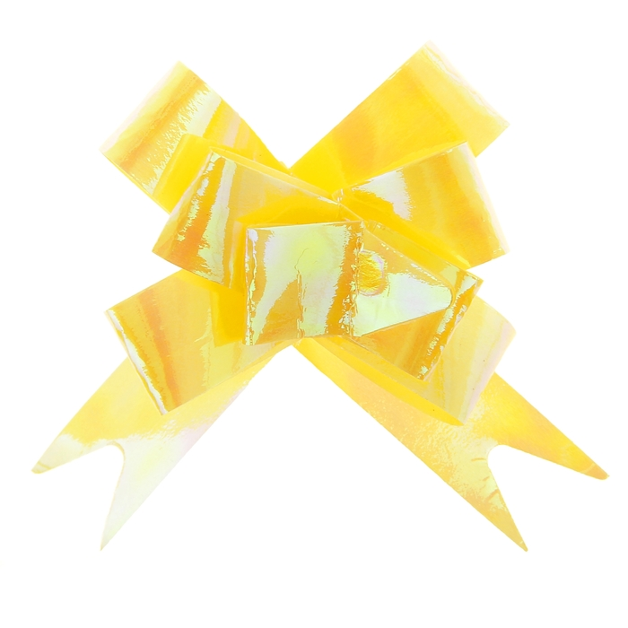 Бант-бабочка №1,2 перламутровый, цвет жёлтый