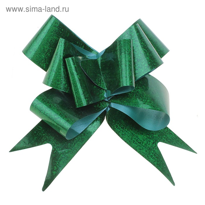 Бант-бабочка №5 голография, цвет зелёный