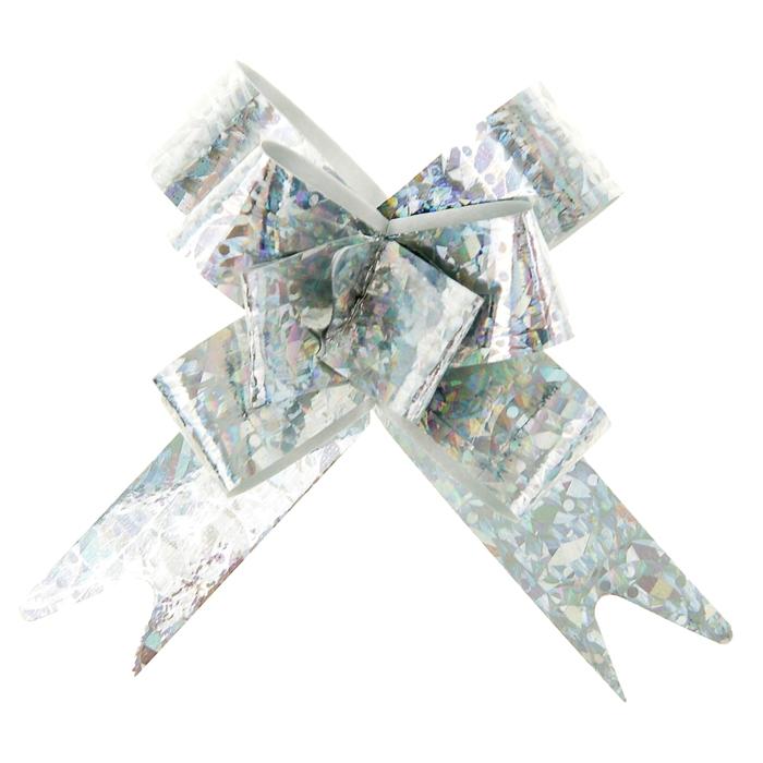 Бант-бабочка №1,2 голография, цвет серебро