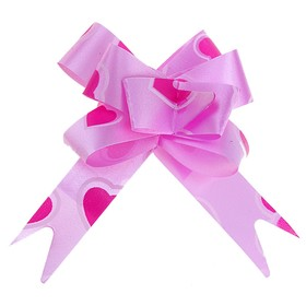 Бант-бабочка №1,2 'Сердца', цвет розовый Ош