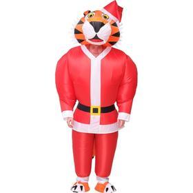 Костюм надувной «Тигр в красном костюме», рост 150-190 см