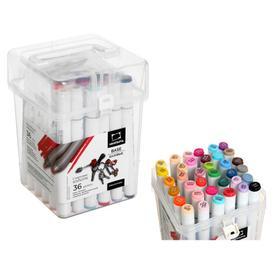Набор художественных маркеров, «Малевичъ», Graf'Art Brush, 36 цвета, двусторонние, спиртовая основа