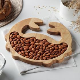 Менажница Доляна «Краб», 26×1,8 см, пропитка маслом, берёза