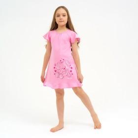 Сорочка для девочки, цвет светло-розовый, рост 98-104 см