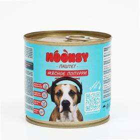 """Влажный корм Moonsy """"мясное попурри"""" для собак, мясное ассорти, паштет, 260 г"""